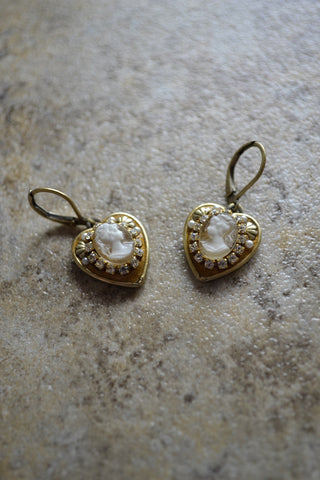 Heart Shaped Earrings - LAST ONE