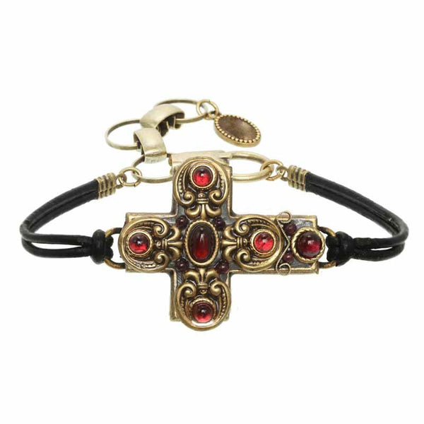Large red cross bracelet