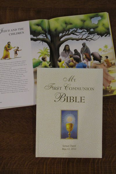 My First Communion Bible Story Book - White