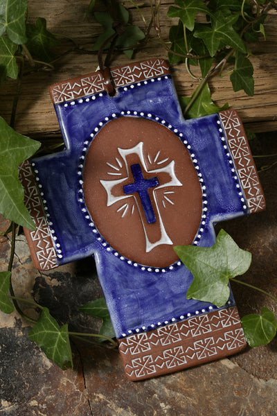 Majolica Cross Of Glory