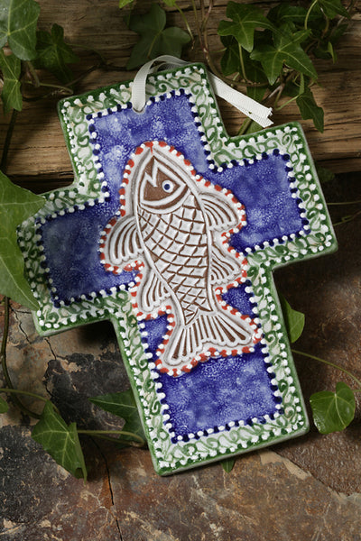 Majolica Fish Cross