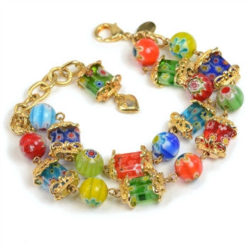 Candy Glass Squares Bracelet