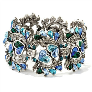 Queen of Hearts Bracelet Blue