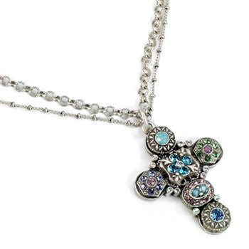 Etheria Crystal Cross Necklace