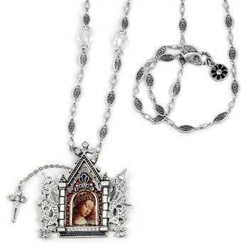 Gates of Heaven Necklace and Devotional Reliquary Silver