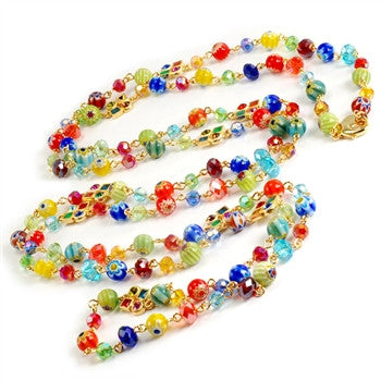 Long Candy Glass Beads