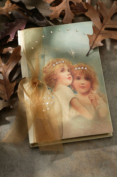 Double Angel Jeweled Journal RETIRED