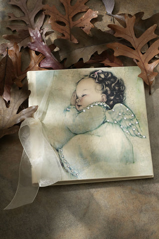 White Angel Baby Photo Album