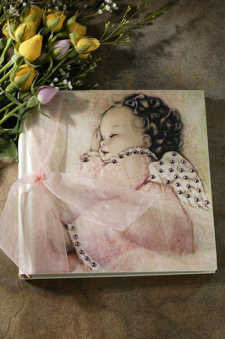 Pink Angel Baby Photo Album ~2 Sizes available