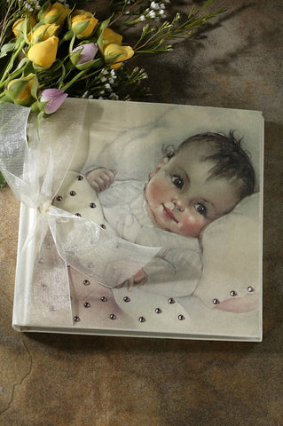 ON SALE White and Pink Baby Girl Photo Album 60% OFF