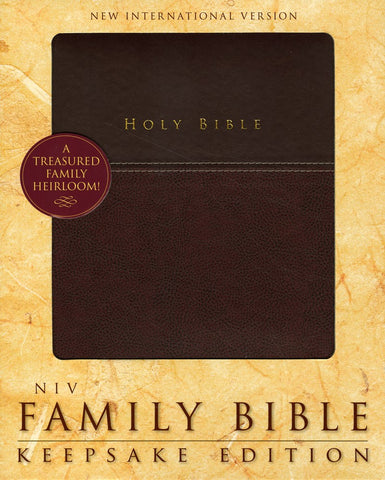 Family Holy Bible Keepsake Edition Large Print NIV-Burgundy