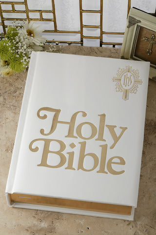 White Catholic Family Bible NAB
