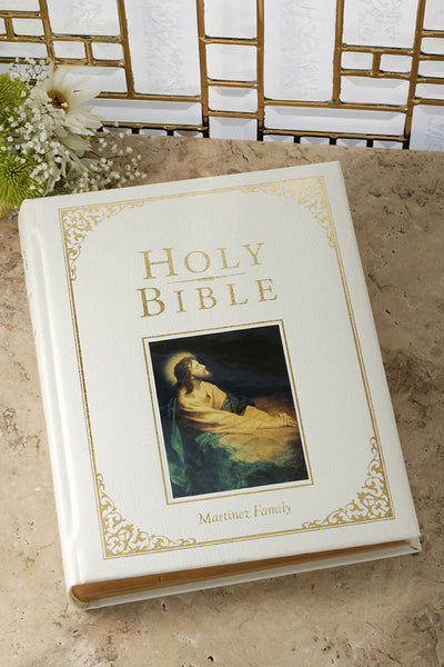 White Large Print Family Bible Deluxe Edition - KJV