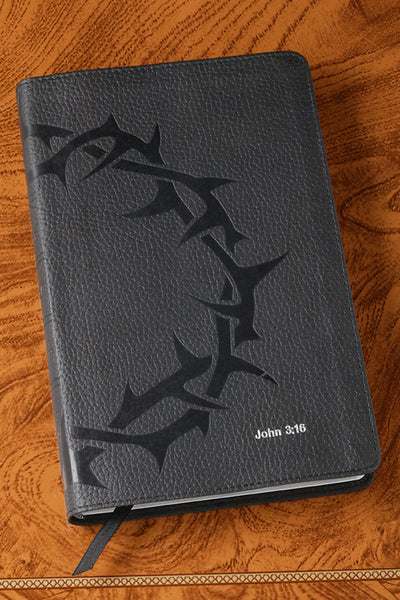 Charcoal Crown of Thorns Compact Bible-ESV