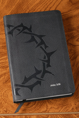 Compact Charcoal Crown of Thorns Bible-ESV