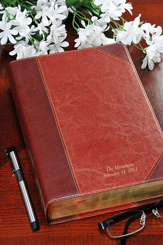 ESV Study Bible -Brown/Cordovan Portfolio Design