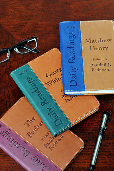 Matthew Henry's Daily Readings (blue book-on right of image)