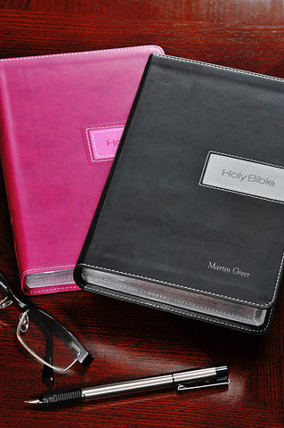 NIV Italian Duo Tone Gift Bible - Choice of Pink or Black