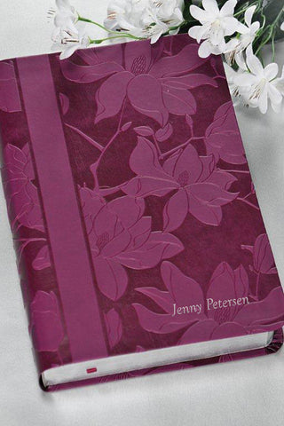 Woman's Study Bible,Plum Floral NKJV