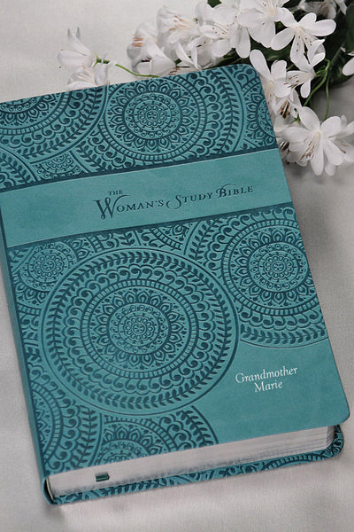Woman's Study Bible,Peacock Blue NKJV