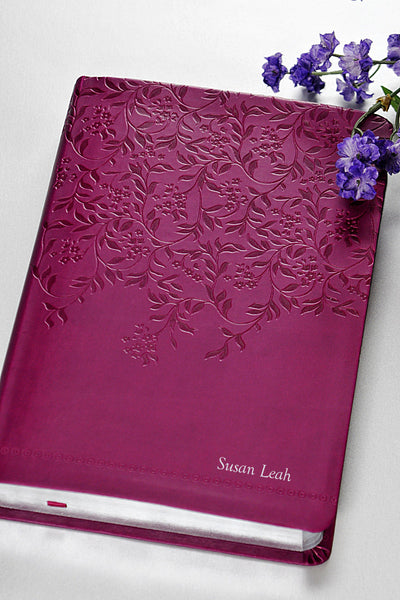 Women of Faith Devotional Bible - Plum NKJV