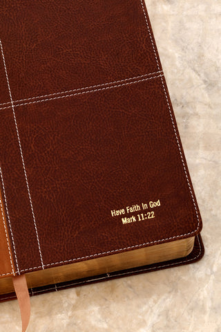 NIV Life Application Study Bible Caramel And Dark Caramel Indexed