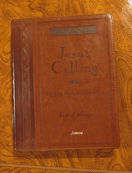 Jesus Calling Devotional Large Print Edition - Caramel Brown