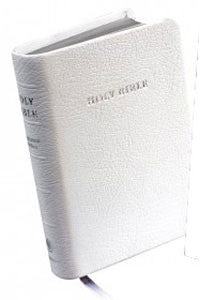 KJV Wedding Bible White French Morocco Leather