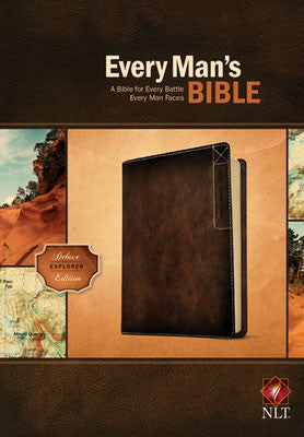 NLT Every Man's Bible-Deluxe Explorer Edition Rustic Brown Indexed