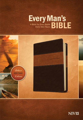 NIV Every Man's Bible-Deluxe Heritage Edition Brown/Tan