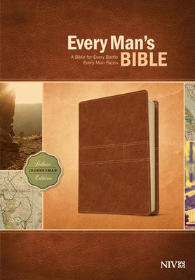 NIV Every Man's Bible-Deluxe Journeyman Edition Burnt Khaki