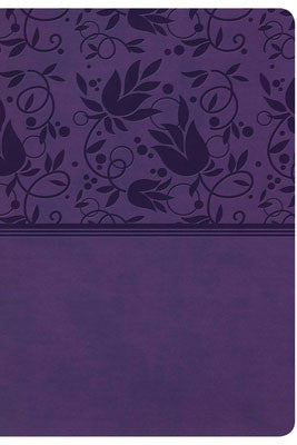 KJV Super Giant Print Reference Bible-Purple LeatherTouch Indexed