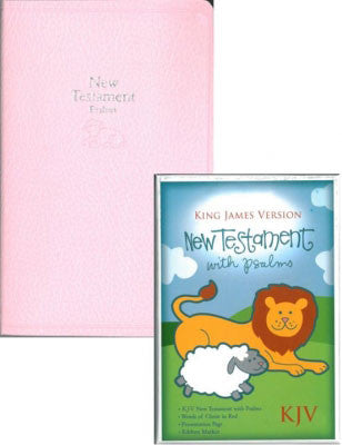Pink Baby Bible Tiny New Testament-KJV