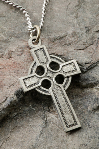 Sterling Silver Celtic Cross Pendant 28x20 MM