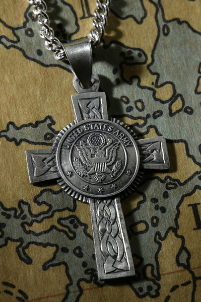 Sterling Silver U.S. Army Cross Pendant