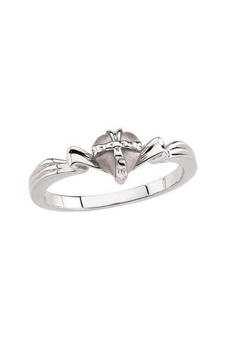 Sterling Silver The Gift Wrapped Heart® Purity Ring