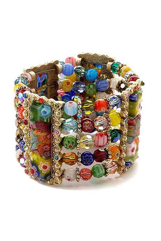 Candy Glass Cuff Bracelet