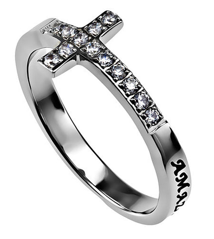 Sideways Cross Ring Amazing Grace