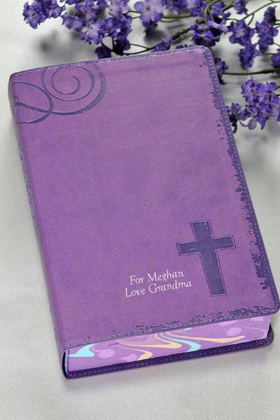 NIV Teen Rock Solid Faith Study Bible - Purple