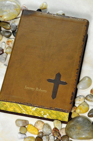 NIV Rock Solid Faith Study Bible - Brown