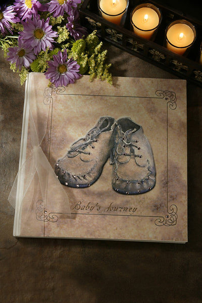 Booties Yellow Baby's Jeweled Journey Book