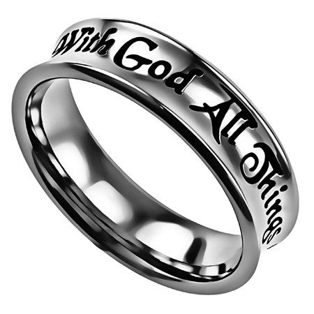 Truth Band Ring-With God All Things Are Possible