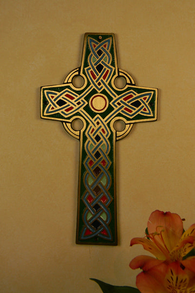 Bronze Celtic Wall Cross