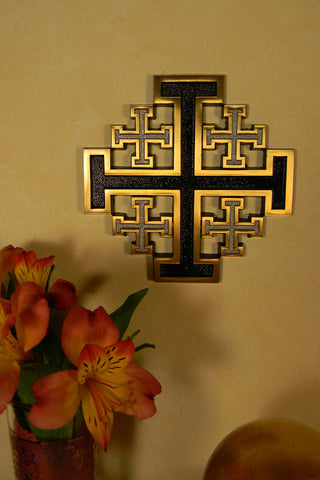 Bronze Jerusalem Cross