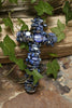 Blue Kyanite & Mother of Pearl Gemstone Wall Cross