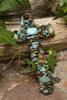 Turquoise & Tiger's Eye Gemstone Wall Cross 7