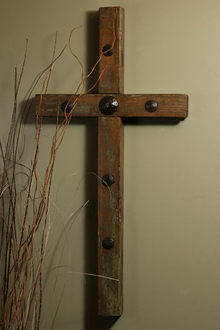 Clavo Old Door Cross-32""