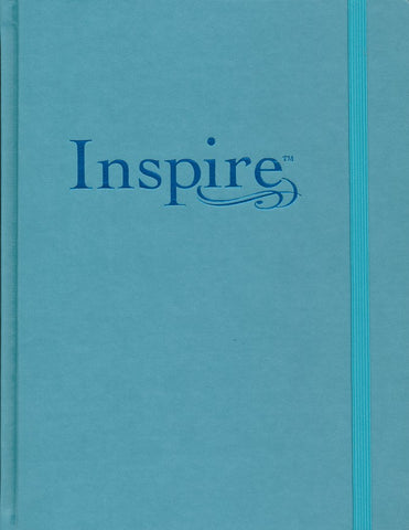 Inspire Large Print Bible NLT-Blue