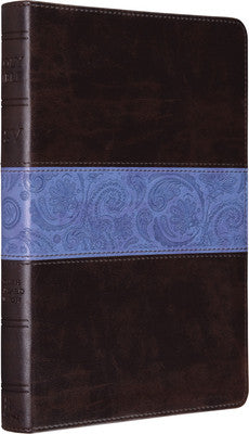 ESV Thinline Bible (TruTone, Chocolate/Blue, Paisley Band)