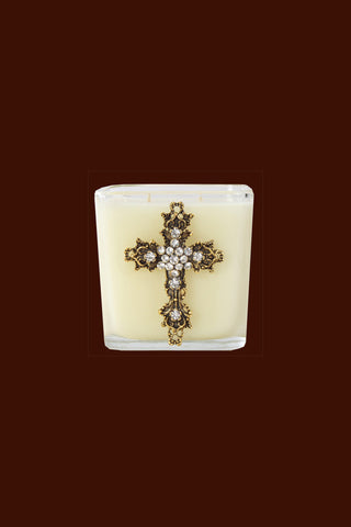 Cross Candle - 20oz Frankincense & Myrrh fragrance